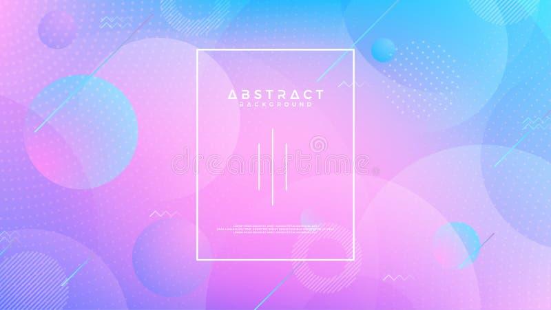 Конспект, современная, динамическая, ультрамодная предпосылка градиента Голубая пурпурная предпосылка вектора Иллюстрация вектора иллюстрация вектора