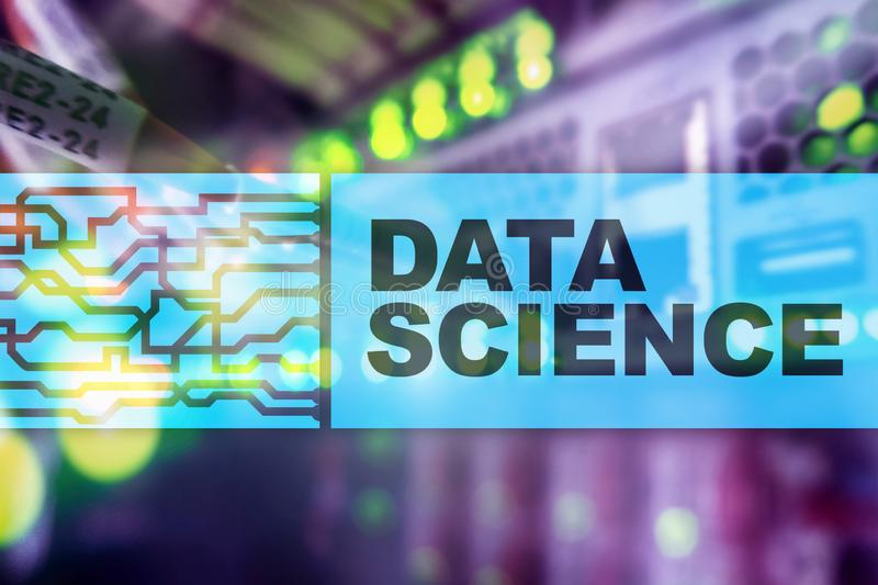 Концепция искусственного интеллекта науки данных Футуристическая предпосылка суперкомпьютера стоковые изображения