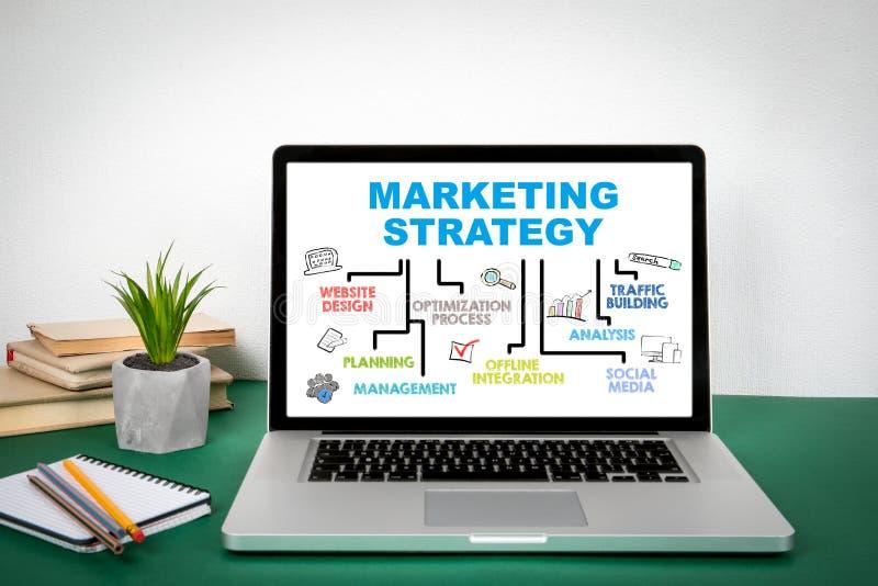Концепция маркетинговой стратегии Диаграмма с ключевыми словами иллюстрация вектора