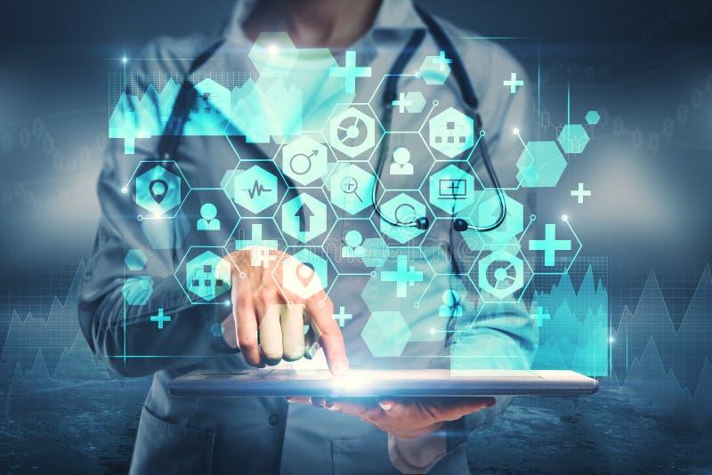 Концепция медицины и будущего стоковая фотография rf