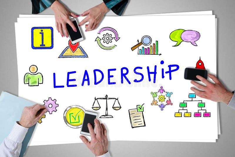 Концепция руководства помещенная на столе бесплатная иллюстрация