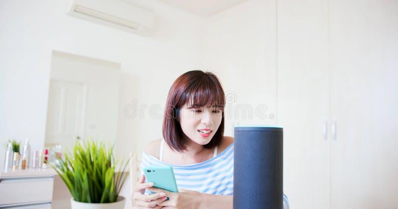 Концепция IOT AI умная домашняя стоковая фотография