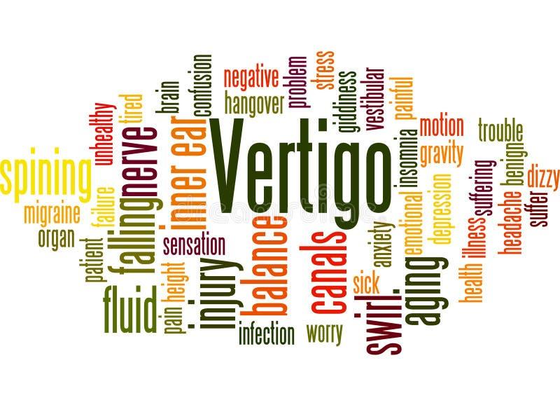 Концепция 3 облака слова боязни высоты иллюстрация вектора