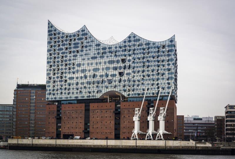 Концертный зал Elbphilharmonie, Гамбург, Германия стоковое изображение rf