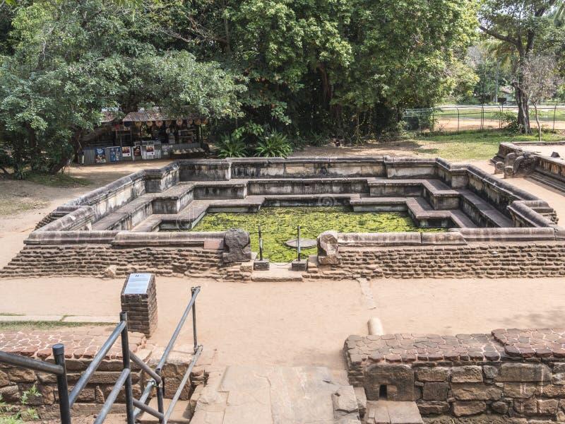 Королевская ванна, Polonnaruwa стоковое фото rf