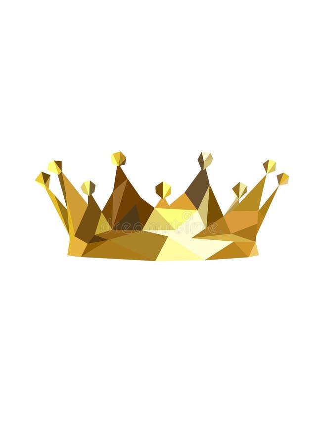 Королевская крона Крона вектора золотого короля низкая поли бесплатная иллюстрация