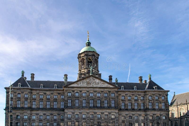 Королевский дворец, Амстердам, Нидерланд стоковая фотография