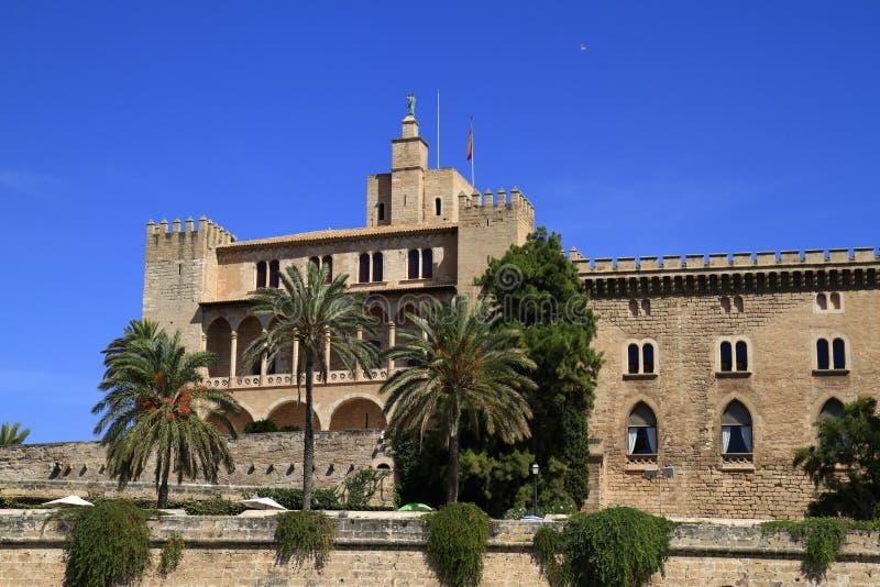 Королевский дворец Ла Almudaina, Palma de Mallorca, Испании стоковое фото rf