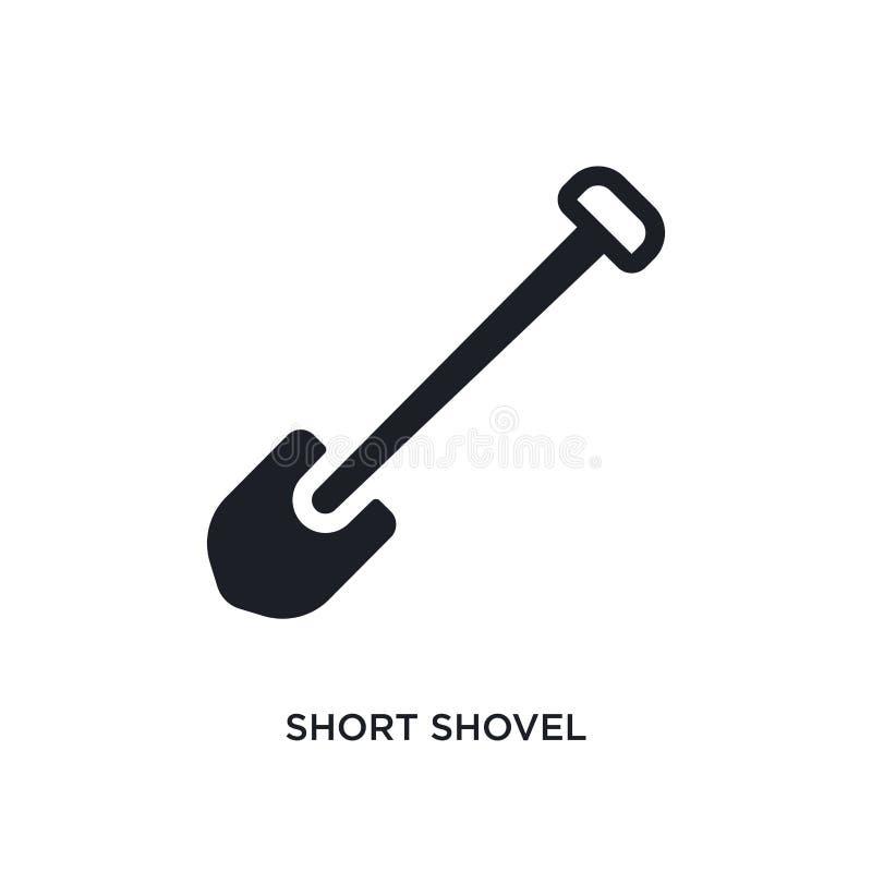 коротким значок изолированный лопаткоулавливателем простая иллюстрация элемента от значков концепции конструкции символ знака лог иллюстрация штока