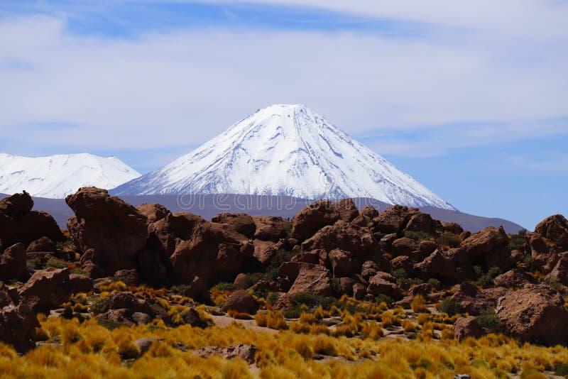 Ландшафты пустыни Atacama, Чили стоковые фотографии rf