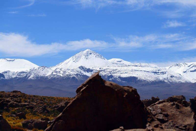 Ландшафты пустыни Atacama, Чили стоковое изображение rf