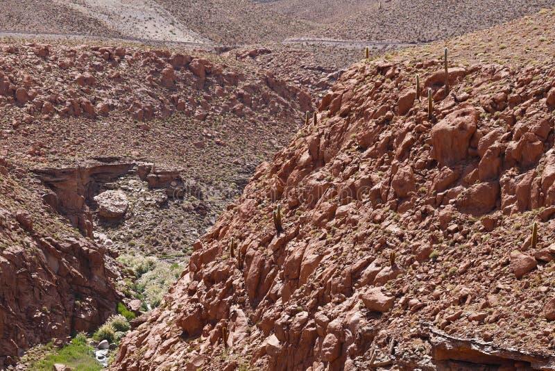 Ландшафты пустыни Atacama, Чили стоковое изображение
