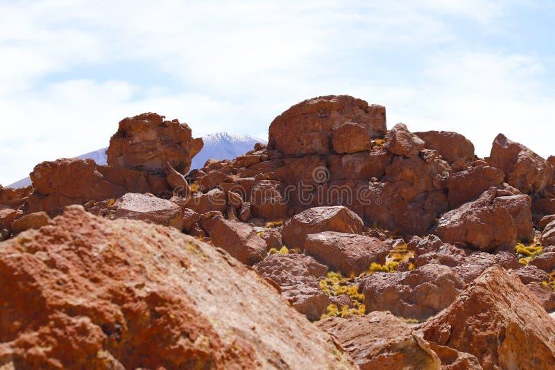 Ландшафты пустыни Atacama, Чили стоковая фотография