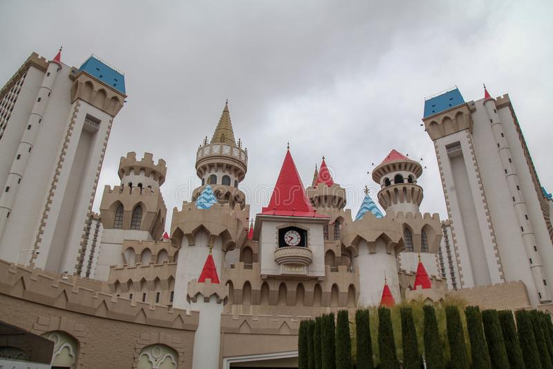 Лас-Вегас, США 8-ое декабря 2018: Гостиница и казино EXCALIBUR большое казино в Las Vagas, neveda, США стоковые фото
