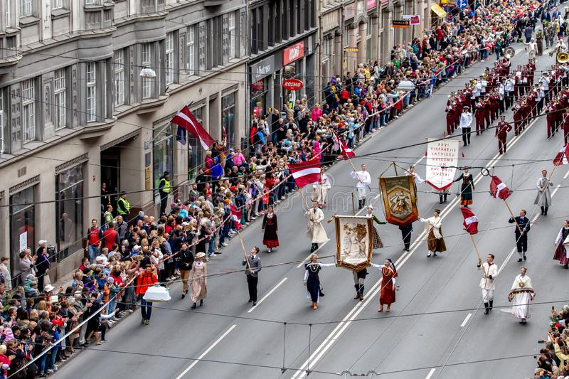 Латышский фестиваль песни и танца стоковые фотографии rf