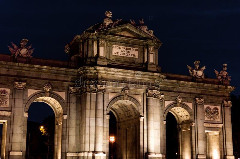 Ла Puerta de Alcala стоковая фотография rf