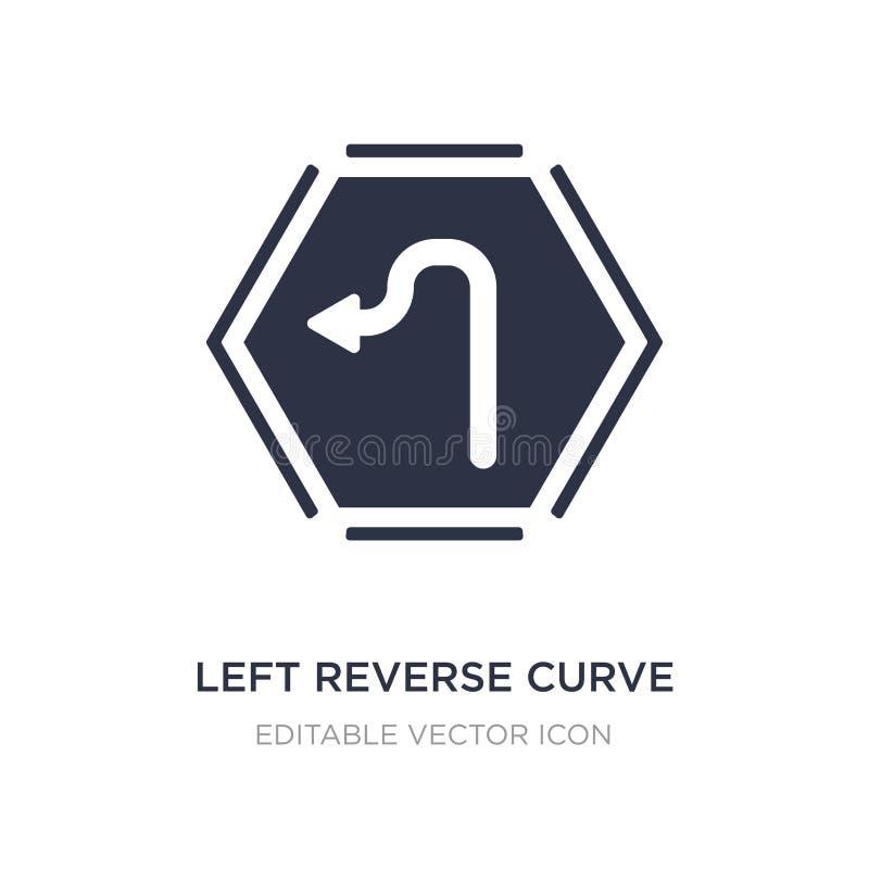 левый обратный значок кривой на белой предпосылке Простая иллюстрация элемента от концепции UI иллюстрация вектора