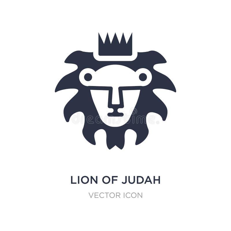 лев значка judah на белой предпосылке Простая иллюстрация элемента от концепции вероисповедания иллюстрация вектора
