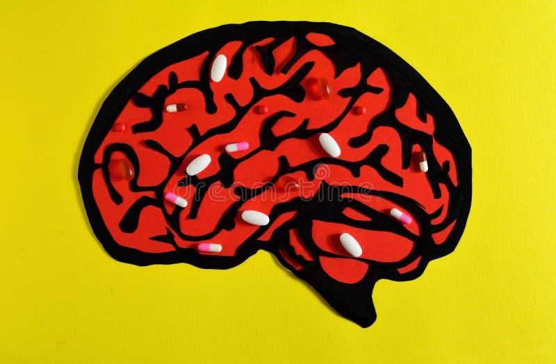 Лекарства в мозге стоковая фотография
