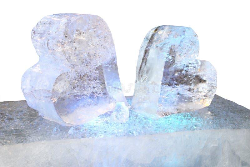 Ледяные сердца стоковое фото rf