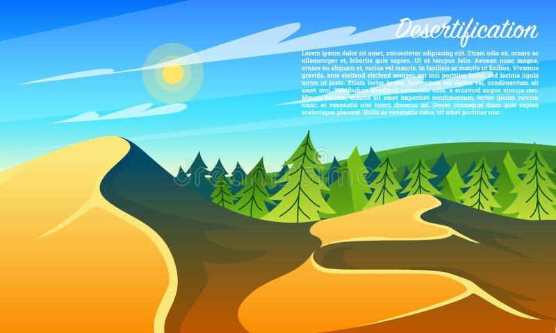Леса опустынивания глобальное потепление загрязнение фото кризиса экологическое относящое к окружающей среде Глобальная концепция иллюстрация вектора