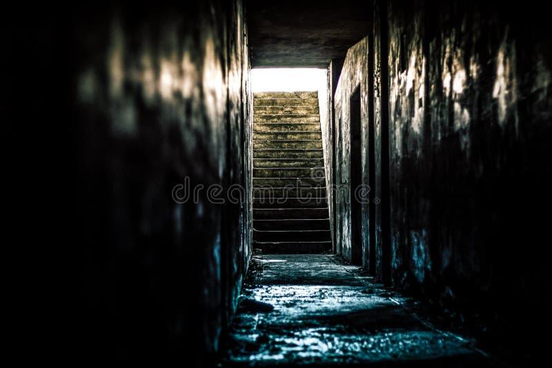 Лестница от ада - бункер артиллерии в государстве WA стоковые изображения