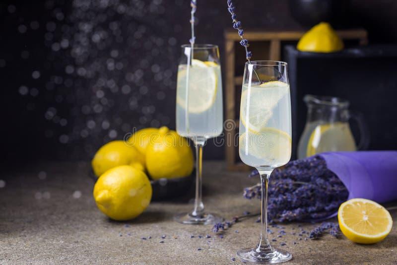 Лимонад с лимонами и лавандой стоковые изображения rf