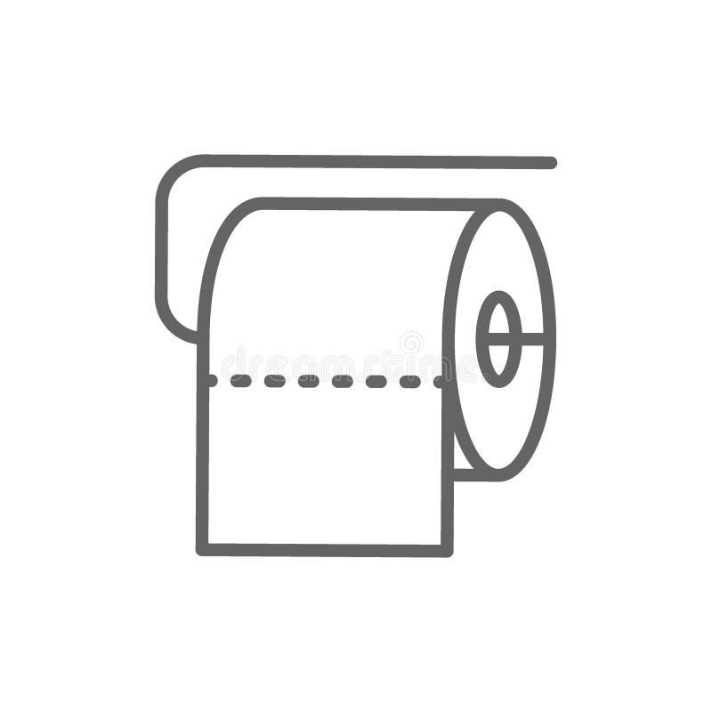 Линия значок крена туалета бесплатная иллюстрация
