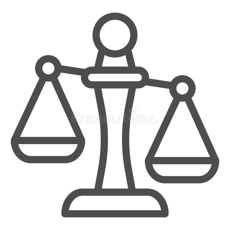 Линия значок Libra Иллюстрация вектора масштабов изолированная на белизне Дизайн стиля плана веса, конструированный для сети и ap иллюстрация штока
