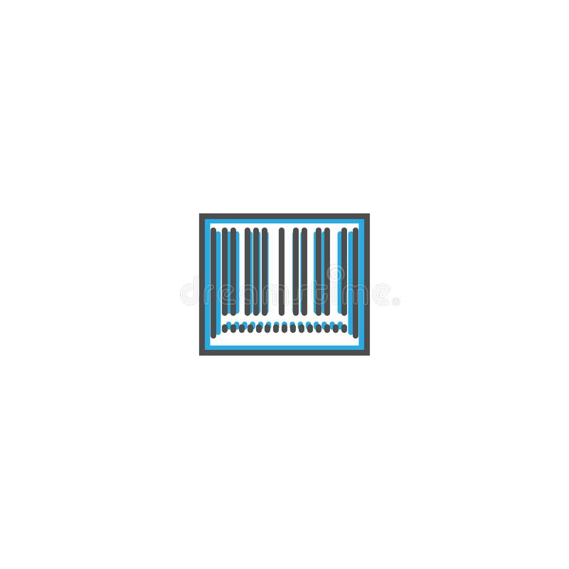 Линия дизайн значка штрихкода Иллюстрация вектора значка дела иллюстрация штока