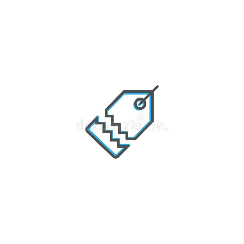 Линия дизайн значка ценника Иллюстрация вектора значка дела бесплатная иллюстрация