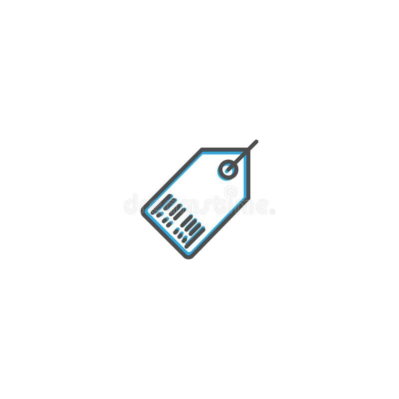 Линия дизайн значка ценника Иллюстрация вектора значка дела иллюстрация штока