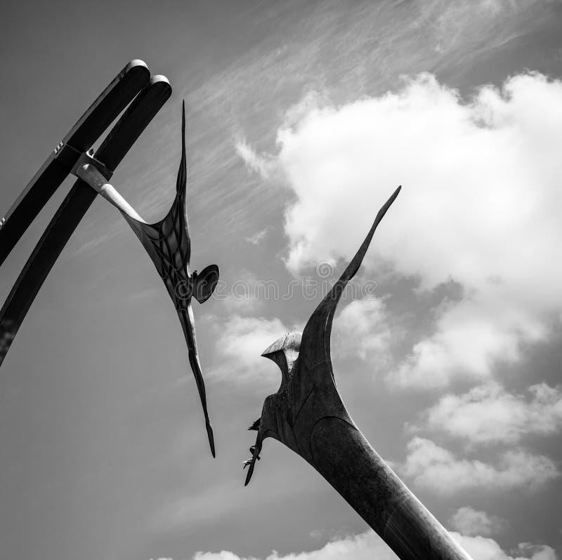 Линкольн, Великобритания - 07/21/2018: Скульптура полномочия стоковое изображение
