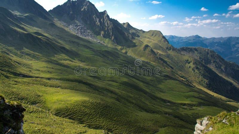 Луг горы в лете стоковая фотография rf