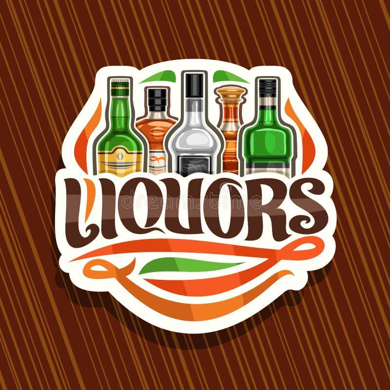 Логотип вектора для ликеров иллюстрация штока