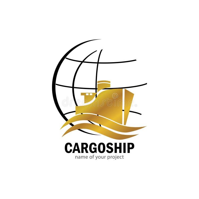Логотип грузового корабля бесплатная иллюстрация