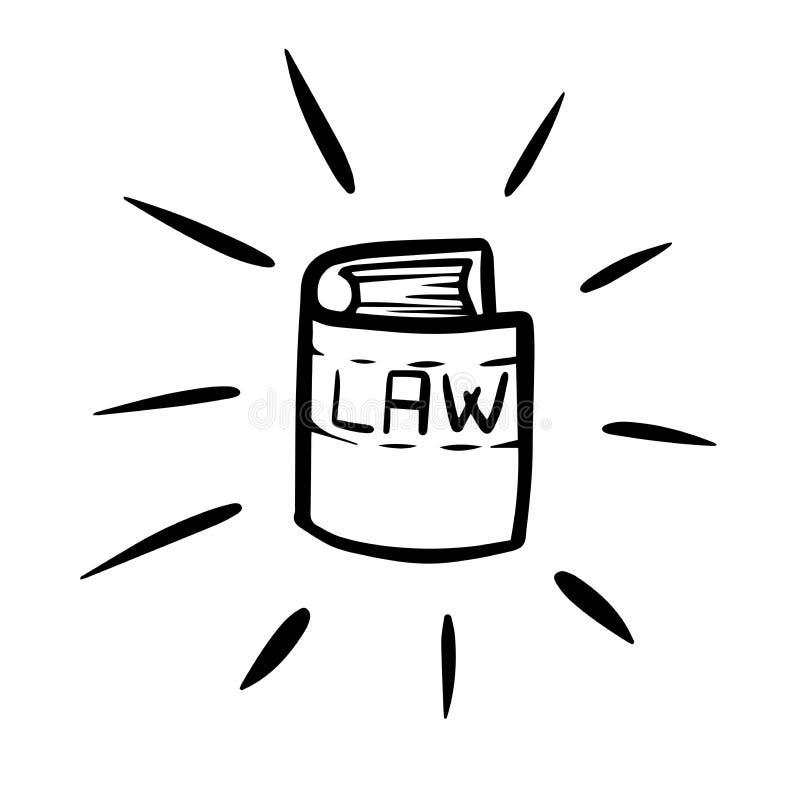 Логотип значка вектора изображения справедливости правосудия закона книги по праву равный бесплатная иллюстрация