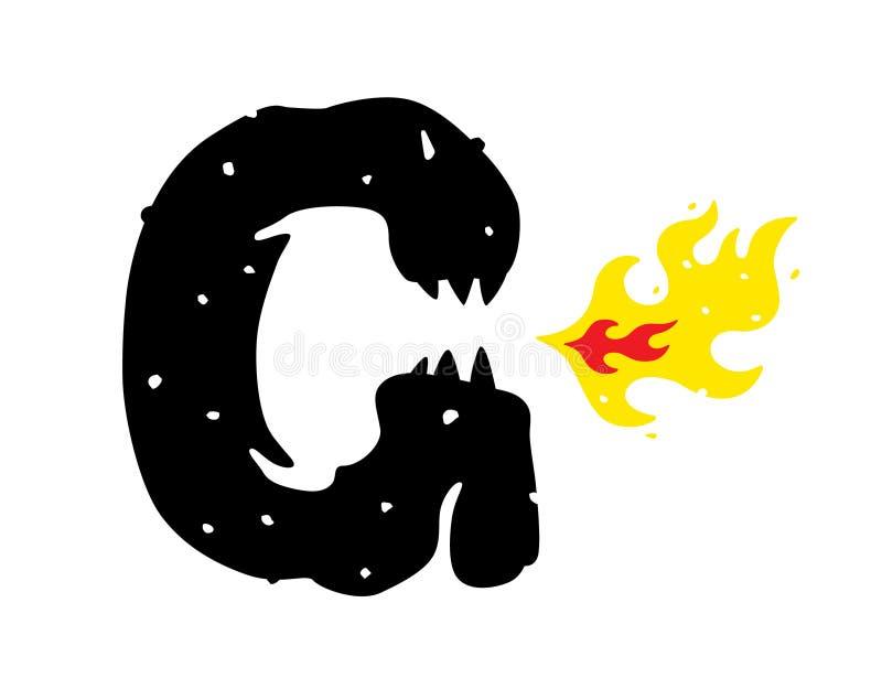 Логотип, иллюстрация godzilla, дракона Логотип вектора плоский Изображение изолировано на белой предпосылке Знак, талисман компан иллюстрация вектора