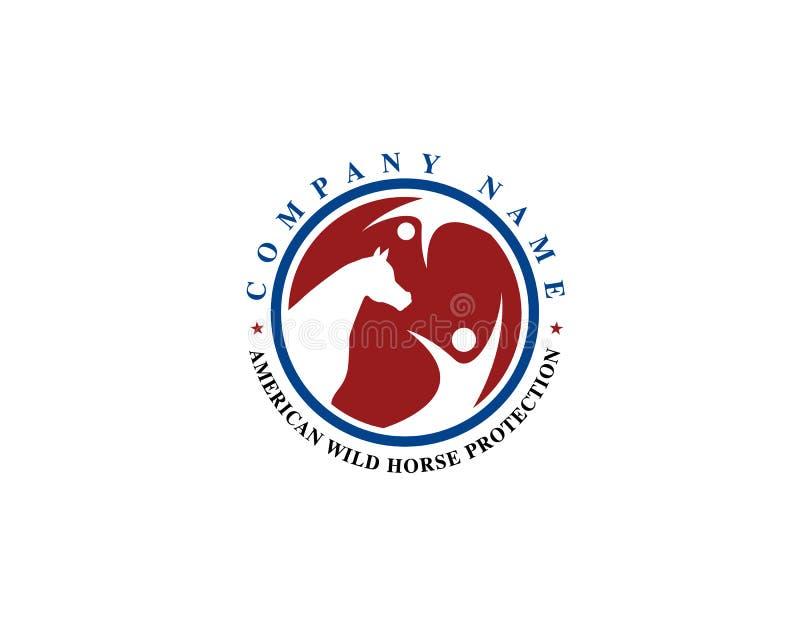 Логотип предохранения от заботы любов лошади бесплатная иллюстрация