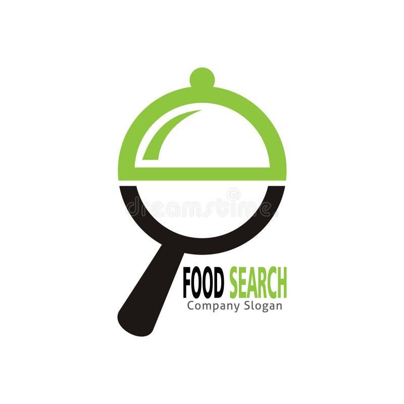 Логотип поиска еды иллюстрация штока