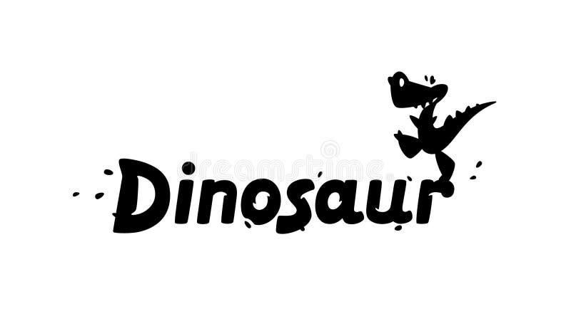 """Логотип динозавра мультфильма также вектор иллюстрации притяжки corel Дети \ """"изображение s дракона Изображение изолировано на бе бесплатная иллюстрация"""