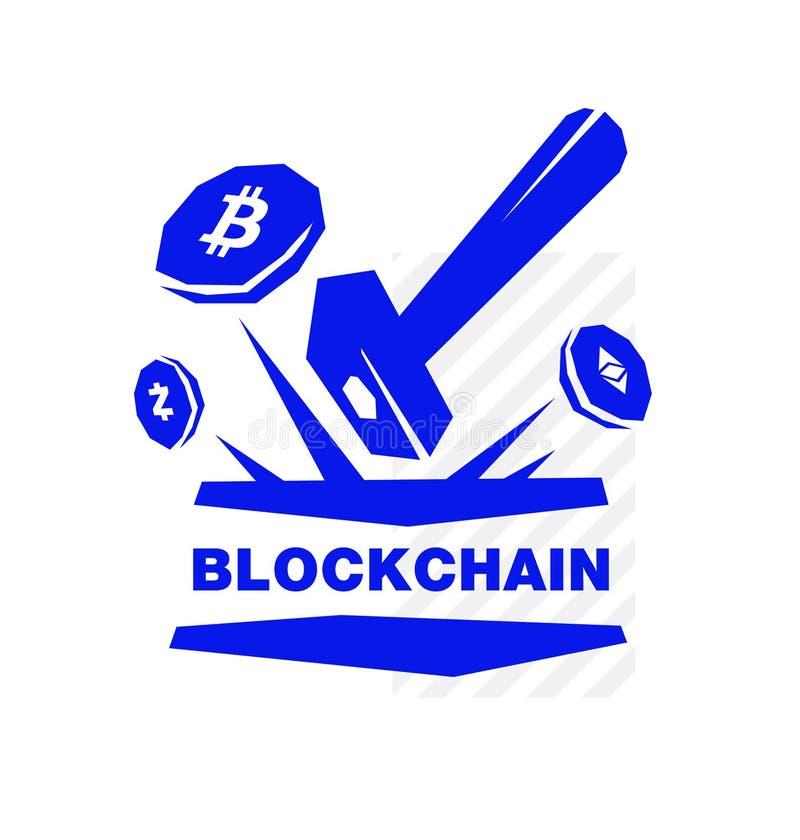 Логотип секретной валюты, blockchain и минирования Изображение изолировано на белой предпосылке вектор шаблона корпоративной тожд бесплатная иллюстрация