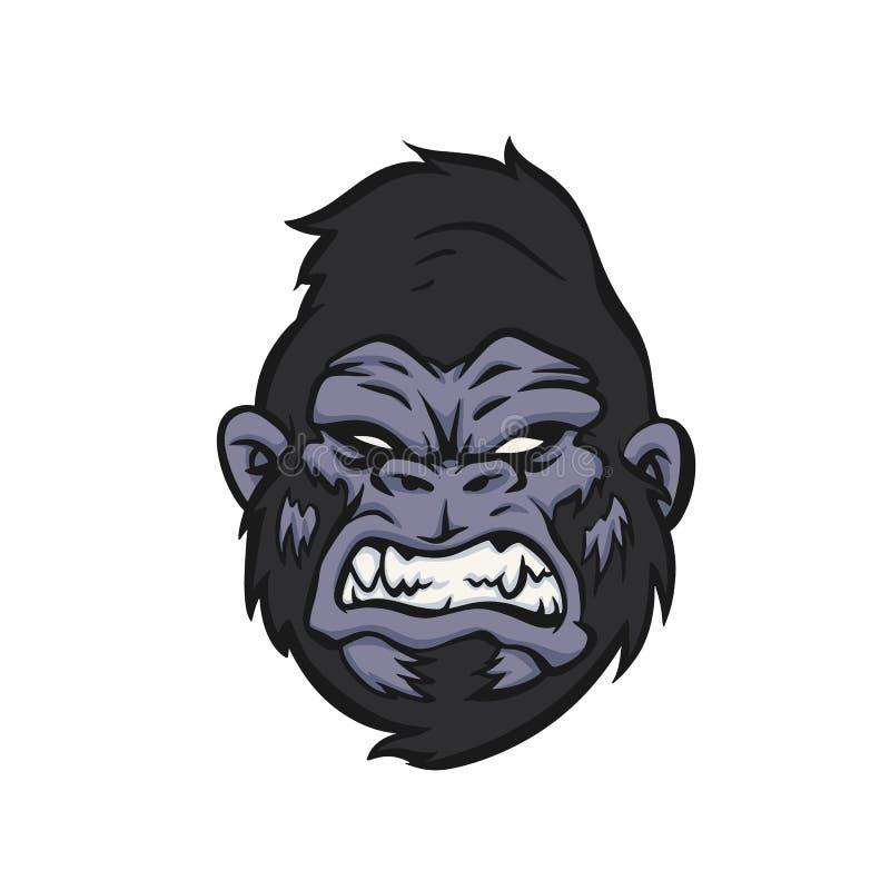 Логотип стороны гориллы сердитый главный бесплатная иллюстрация