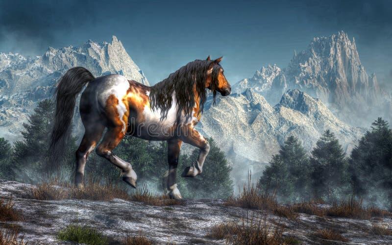 Лошадь зимы бесплатная иллюстрация