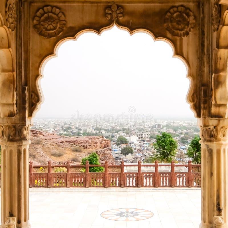 Мавзолей Jaswant Thada в Джодхпуре Детали архитектуры стоковая фотография rf