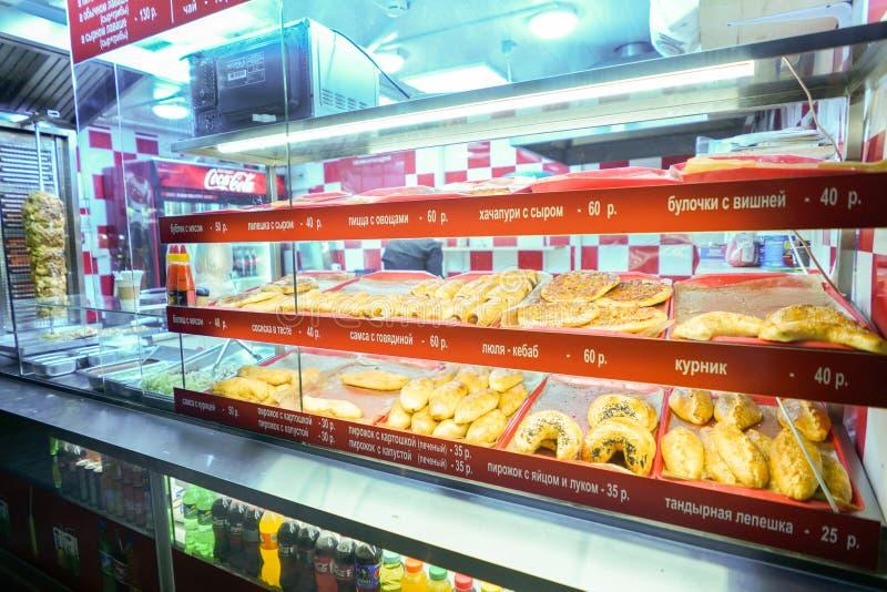 Магазин и kebab улицы хлеба стоковое фото rf