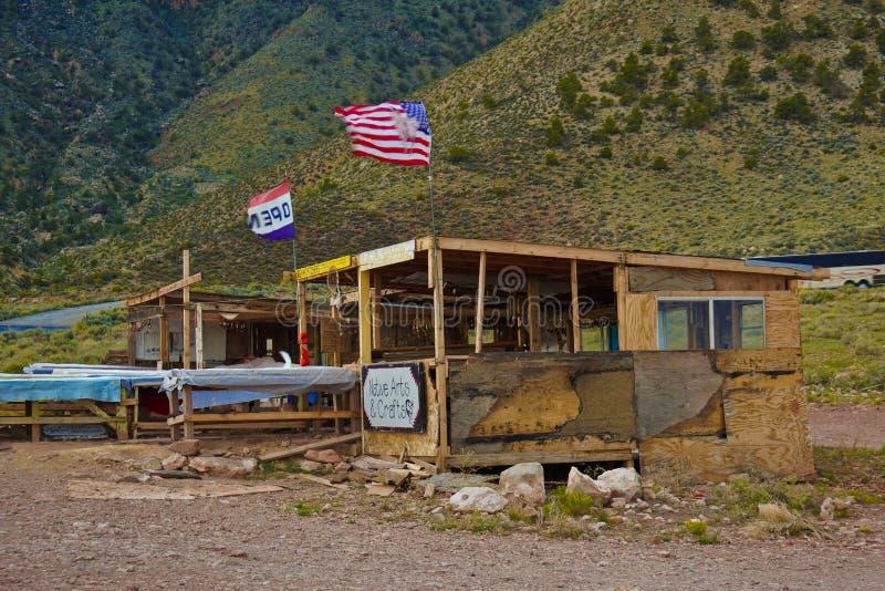 Магазин сувенира коренного американца на гранд-каньоне стоковое изображение rf