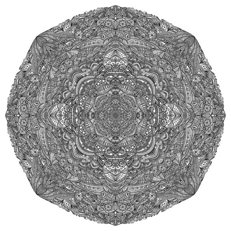 мандала вектор орнамента круглый Antistress изображение стоковые фотографии rf