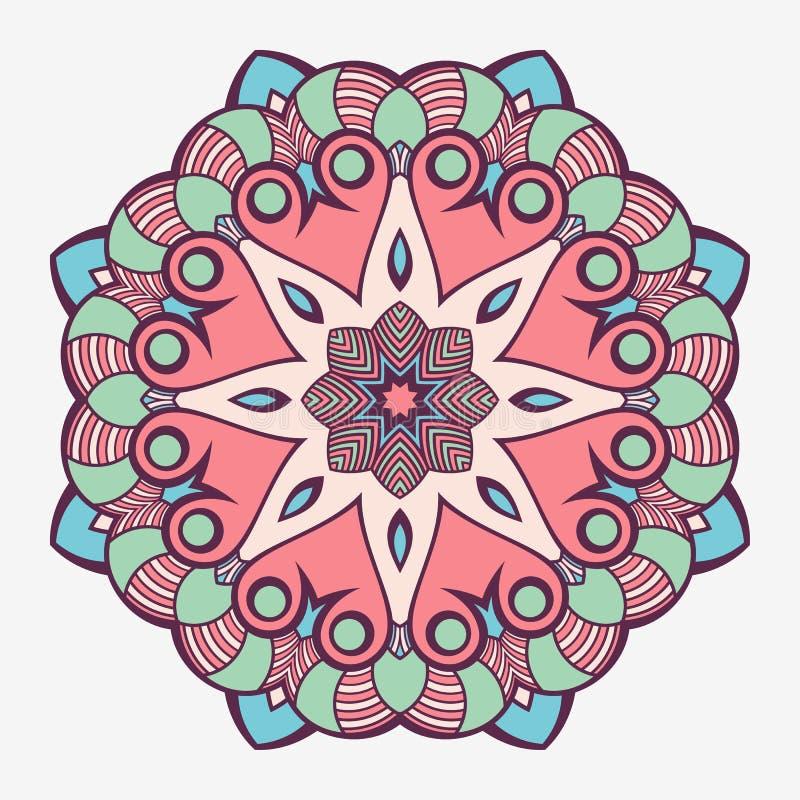 мандала Творческий круговой орнамент Круглая симметричная картина декоративный сбор винограда элементов бесплатная иллюстрация
