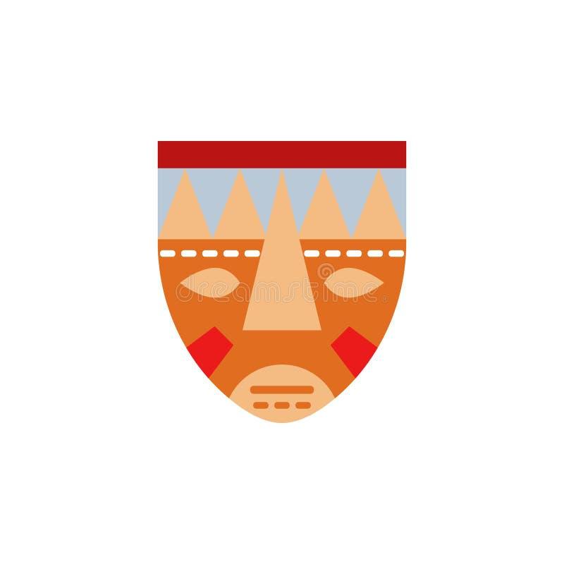 маска, этнический, африканский значок Элемент значка сафари цвета африканского Наградной качественный значок графического дизайна иллюстрация штока